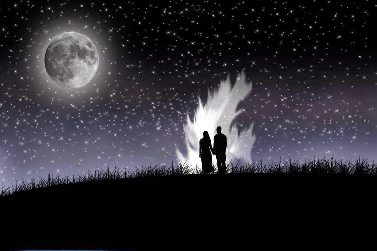 صورة صور قمر في الليل , احلى صور للقمر في المساء