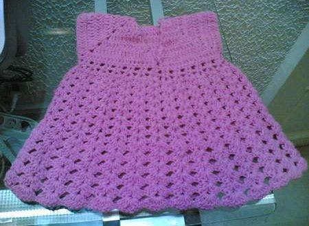 صور طريقة عمل فستان كروشيه بالتفصيل , اصنعي فستان كروشيه لابنتك بنفسكي