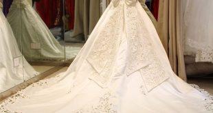 صورة فساتين اعراس لبنان , فستان العمر بالطله اللبنانيه