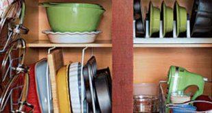 صورة افكار لترتيب المطبخ الصغير , خدع لتوسيع مطبخك الصغير