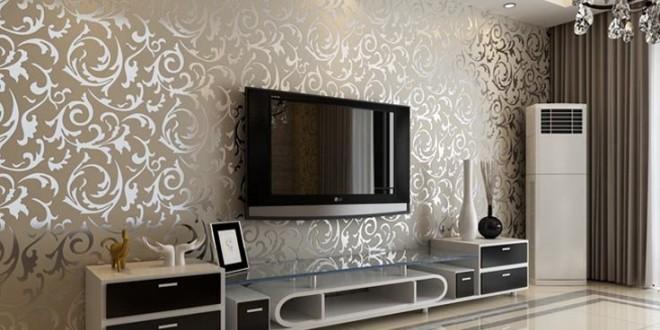 صورة ديكورات ورق جدران , ورق الحائط بديل للبويه