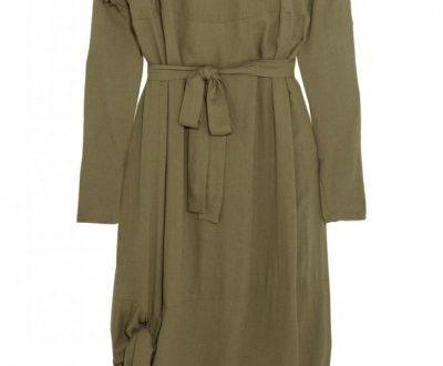 صورة اللون الزيتوني في الملابس , جمال الملابس باللون الزيتوني