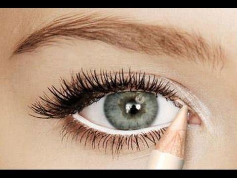 صورة طريقة تكبير العيون بالمكياج , الحصول على عيون واسعه بالميك اب