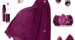 صورة فساتين سواريه موف , اجمل الفساتين السواريه باللون البنفسجي