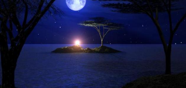 صورة خواطر عن هدوء الليل , كلام جميل عن الليل وسهره