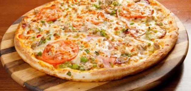 صورة طريقة عمل البيتزا في الميكرويف , اسهل بيتزا بالميكرويف