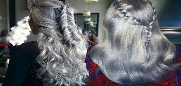 صورة شعر زيتي رمادي , اجمل الصبغات العصرية لشعرك 3315 23