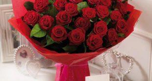 صورة باقات ورد حمراء , الورد الاحمر يكفى لتحكى لها عن عشققك