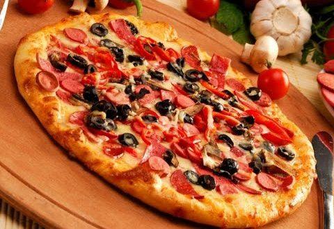 صور طريقة عمل البيتزا الايطالية بالصور خطوة خطوة , بيتزا شهية جدا