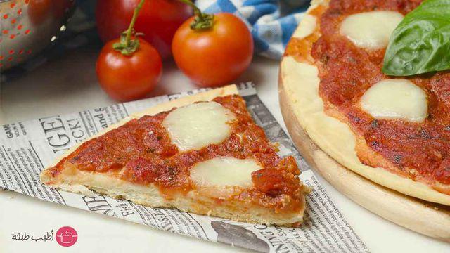 صورة طريقة عمل البيتزا الايطالية بالصور خطوة خطوة , بيتزا شهية جدا 439 8
