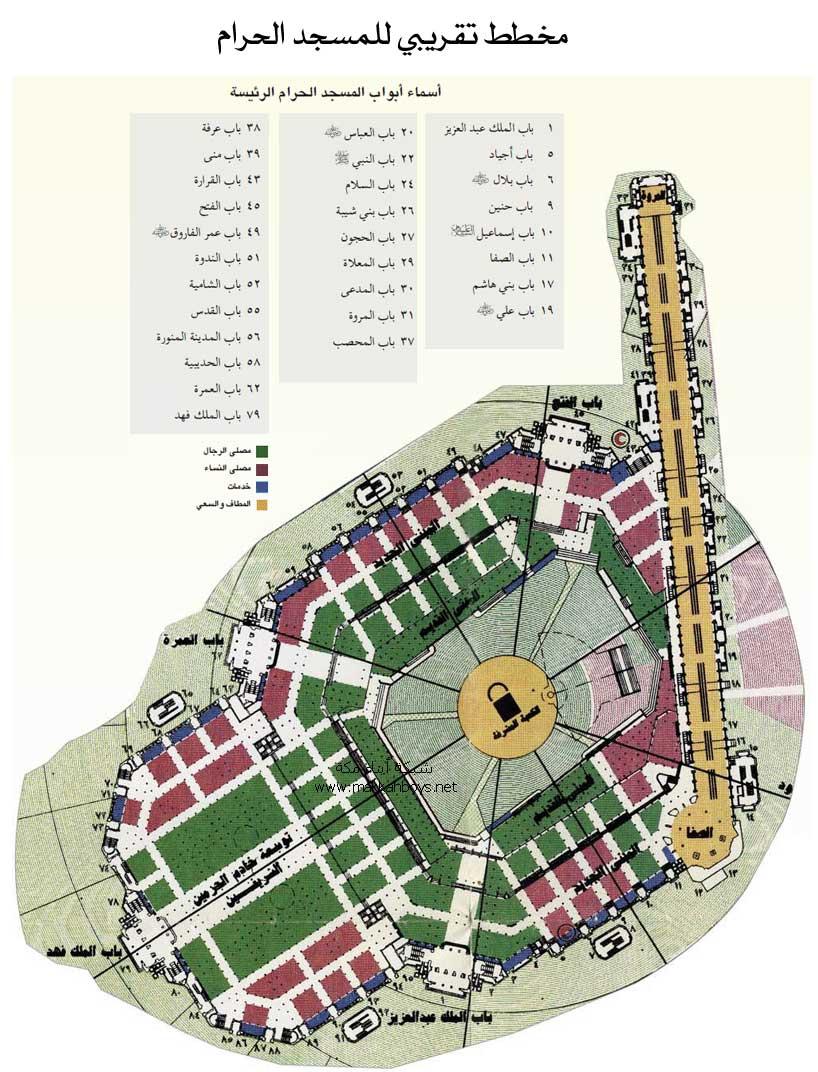 صورة اسماء ابواب الكعبة , من خلال الموقع اعرف اسم باب الكعبه