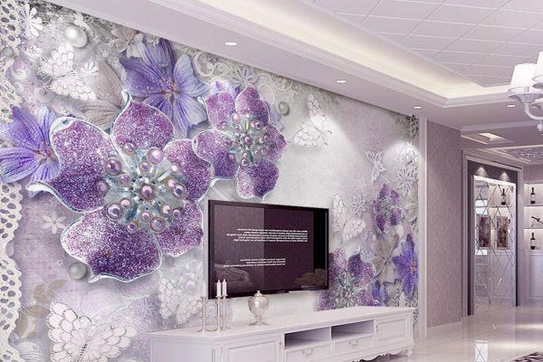صورة ورق حائط موف , يا روعة وجمال اللون الموف فى ورق الحائط