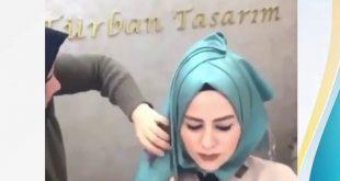 صورة لف شالات للمناسبات , لفات طرح سوريه جميله