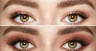 صورة مكياج العيون البنية , رسم العين بطريقه بسيطة