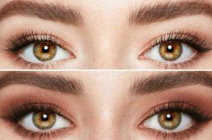 صورة رسم العين بطريقه بسيطة , مكياج العيون البنية