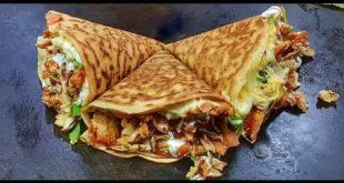 تعالو شوفو اكلة مثل اكلات المطاعم  , طريقة عمل الكريب بالفراخ البانيه