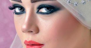 صورة واو عرايس محجبات ولفات طرح جديدة , اجمل عروسة محجبة