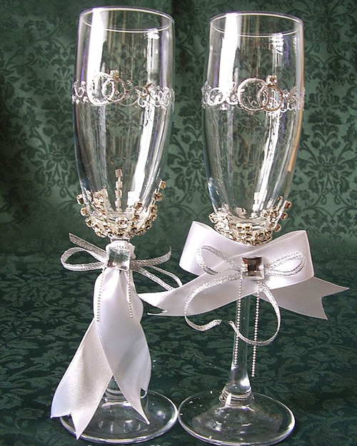 صورة تزيين كاسات العروسين 3005 2